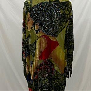 Chico's Vintage Beaded Women Cardigan S/M